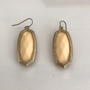 Francesca's Cream Dangly Earrings